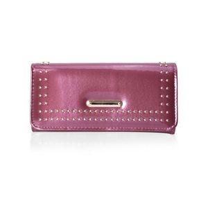 Handbags - Burgundy Faux Leather Tri-fold Wallet